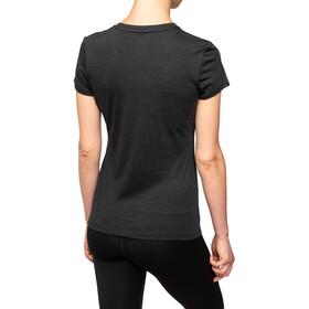 super.natural Essential I.D. T-paita Naiset, jet black melange/vapor grey logo